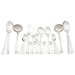 Vintage 1940s Sterling Silver Canteen of Cutlery for 12 Persons
