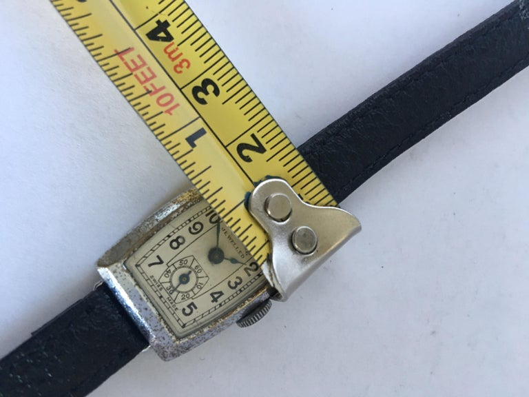 Vintage 1940s Swiss Mechanical Watch For Sale 6