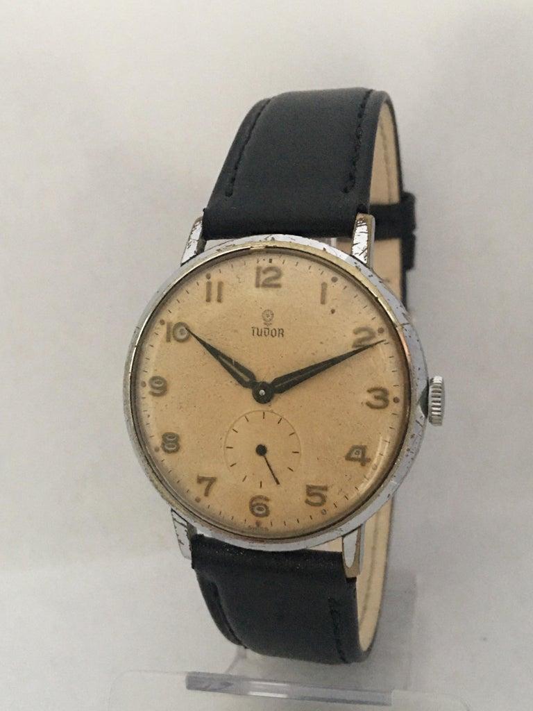 Vintage 1940s Tudor Mechanical Watch For Sale 7