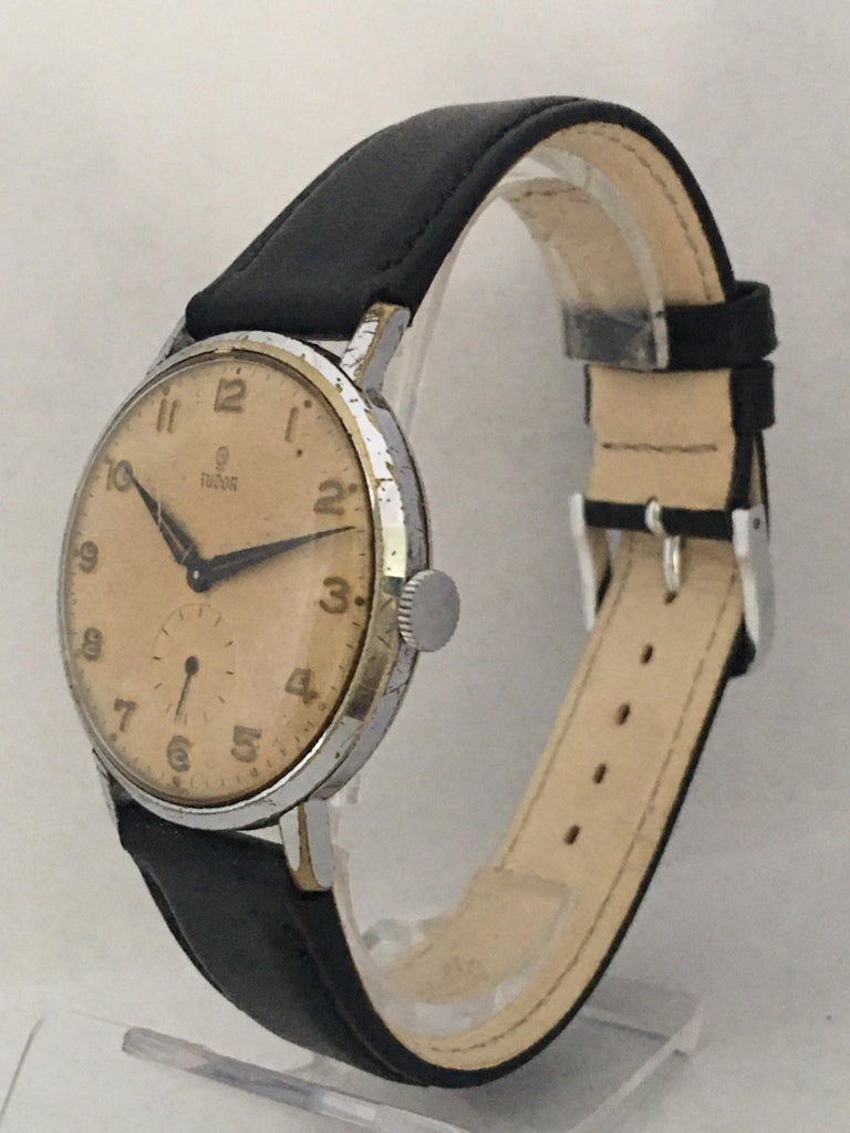 Vintage 1940s Tudor Mechanical Watch In Good Condition For Sale In Carlisle, GB