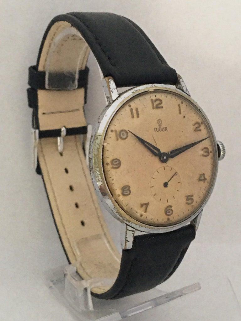 Women's or Men's Vintage 1940s Tudor Mechanical Watch For Sale