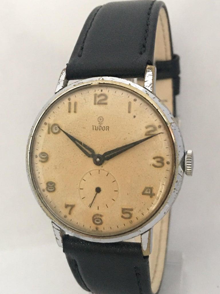 Vintage 1940s Tudor Mechanical Watch For Sale 5