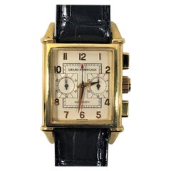 Vintage 1945 Girard Perrigeax Gold Chronograph with Black Alligator Strap