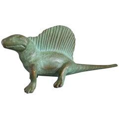 Vintage 1947 SRG Bronze Dimetrodon Dinosaur Science Statue Figure Sculpture