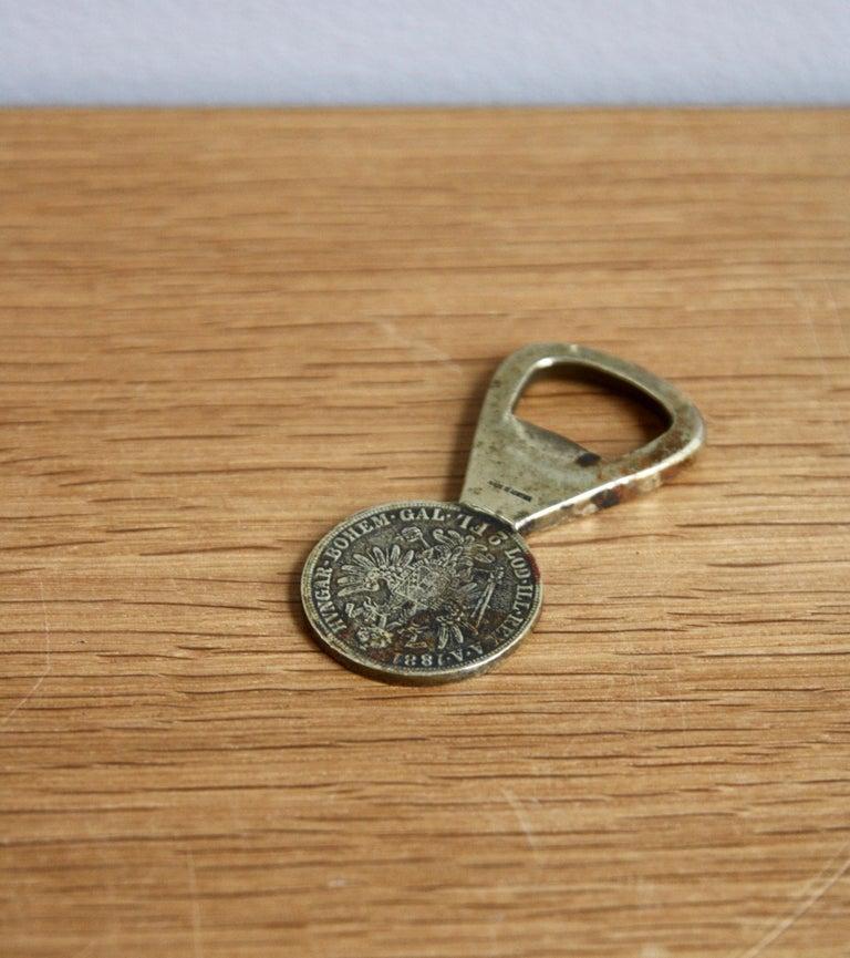 Vintage 1950s 2 Florin Coin Bottle Opener Carl Auböck For Sale 1