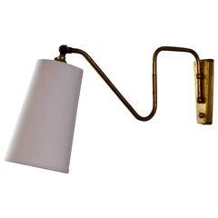 Vintage 1950s Adjustable Wall Light
