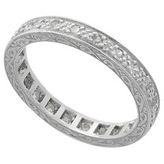 Vintage 1950s Diamond and Platinum Full Eternity Ring