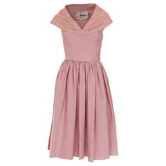 Vintage 1950s  Dusty Pink Prom Style  Dress
