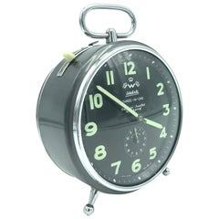 Vintage 1950s Extra Large Alarm Clock Made by Wehrle of Germany