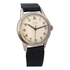 Vintage 1950s Mappin & Webb Stainless Steel Automatic with Sweep Seconds Watch