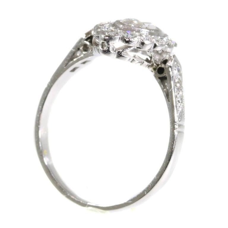 Platinum Engagement Rings Sale Uk: Vintage 1950s Platinum Engagement Ring With 0.85 Carat
