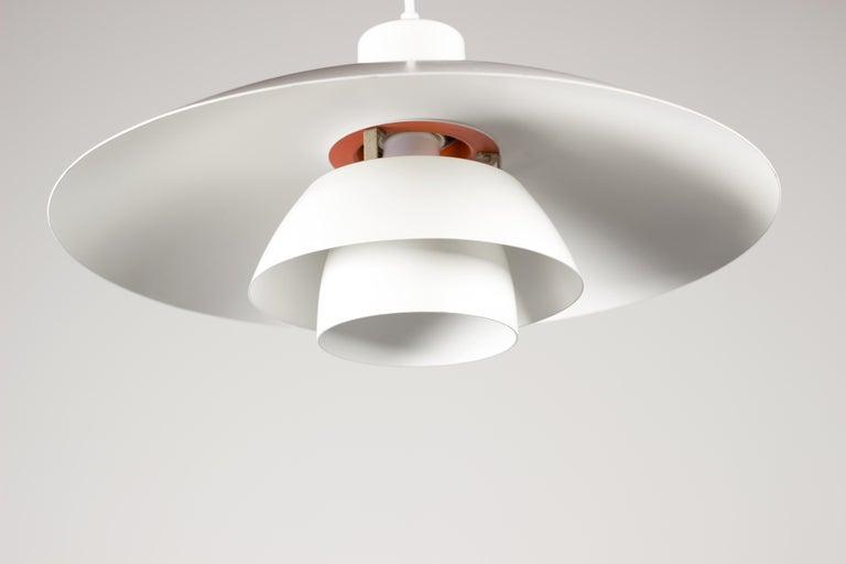 Danish Vintage 1950s Poul Henningsen PH 4/3 Pendant Light for Louis Poulsen For Sale