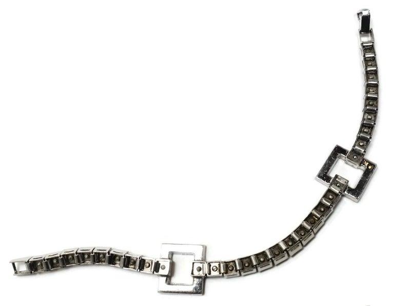 Women's Vintage 1950s Retro Style Crystal Bracelet For Sale