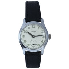 Vintage 1950s Silver Plated Mechanical Watch