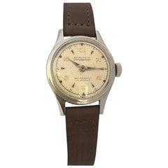 Vintage 1950s Stainless Steel Ladies Swiss Mechanical Watch
