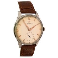 Vintage 1950s Stainless Steel Mechanical Omega Gentlemen's Watch