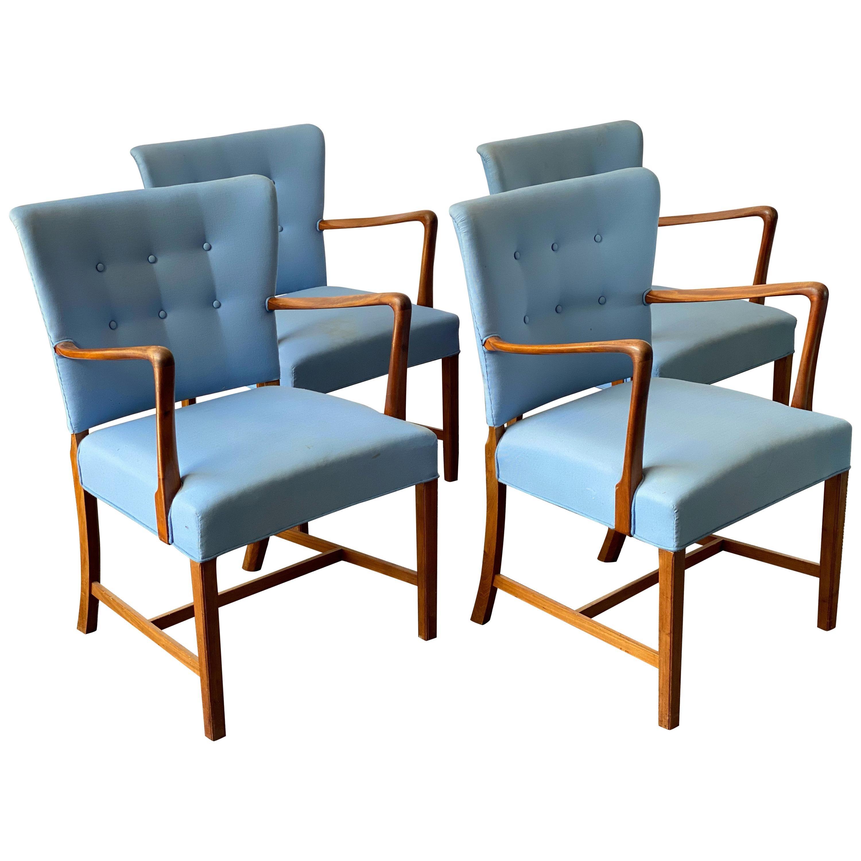 Vintage 1950s Walnut Armchairs