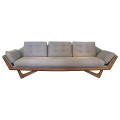 Vintage 1950s Walnut Gondola Sofa by Adrian Pearsall for Craft Associates