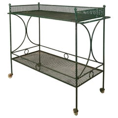 Vintage 1950's Wrought Iron Bar Cart by Salterini