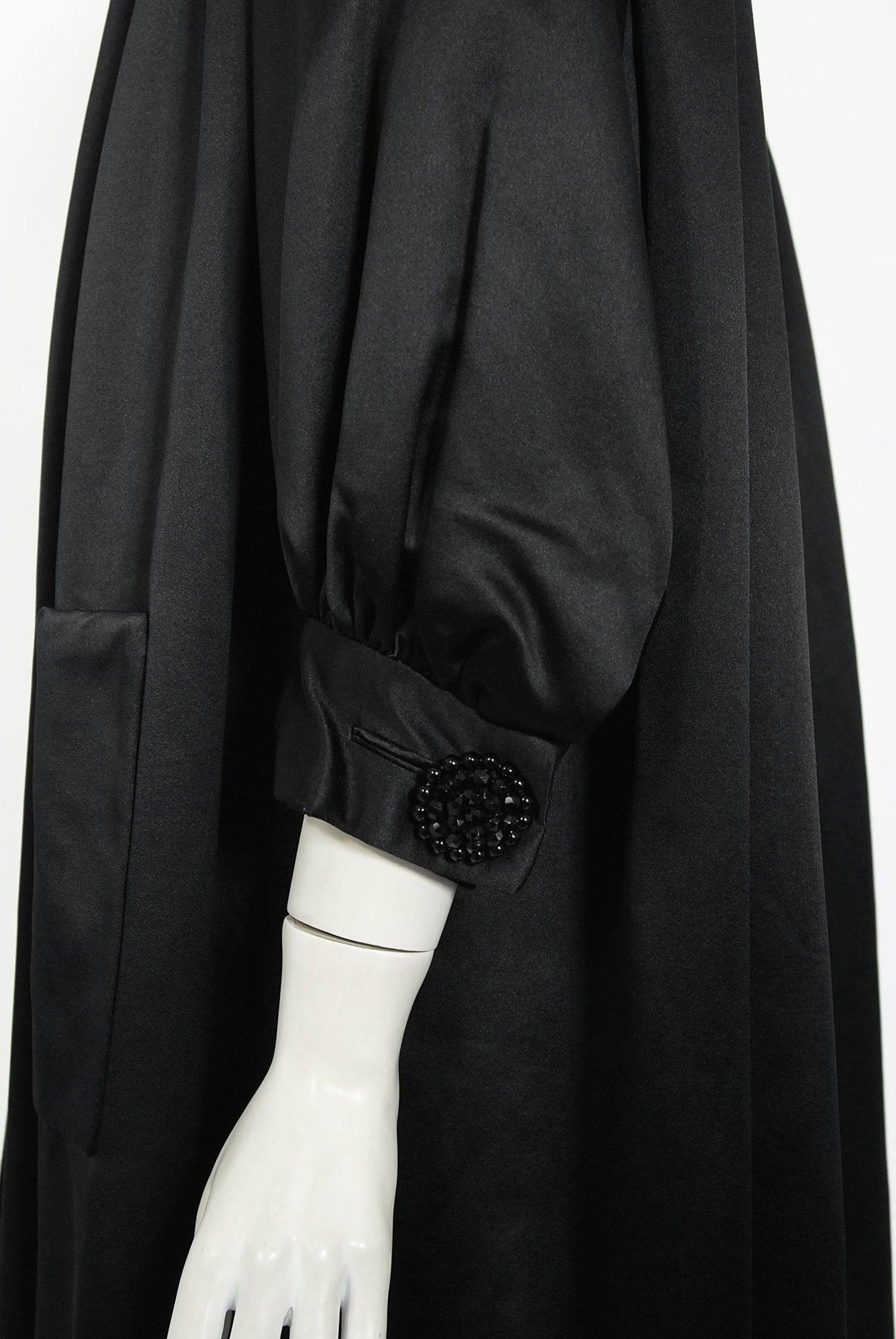 sheer black jacket  Stephanel One size but XL evening jacket shiny jacket Vintage evening jacket