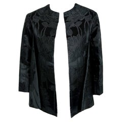 Vintage 1953 Christian Dior Haute-Couture Floral Silk Brocade Winged Jacket