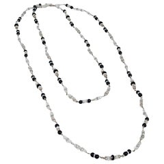 Vintage 1954 Chanel by Robert Goossens Crystal Long Sautoir Couture Necklace