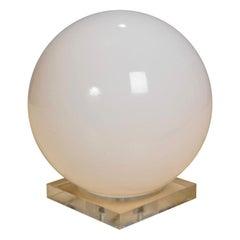 Vintage 1960 Lucite Globe Table Lamp