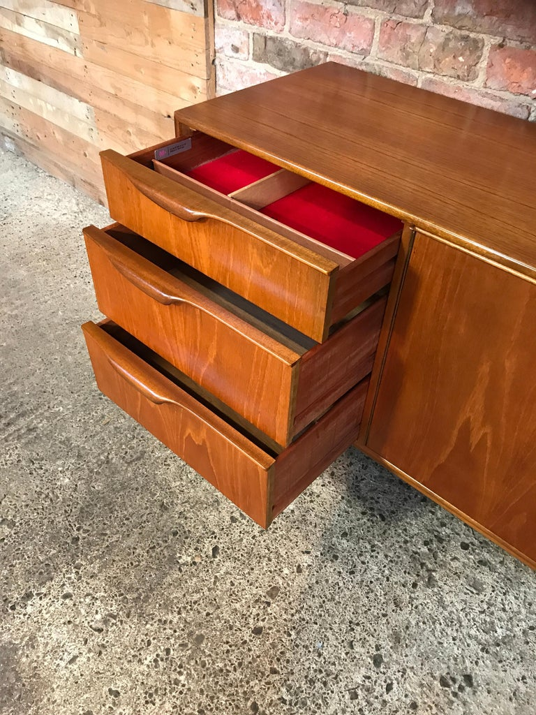 20th Century Vintage 1960 Retro Teak Sideboard or Credenza by Tom Robertson for McIntosh For Sale
