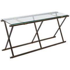 Vintage 1960's Brass Console Table