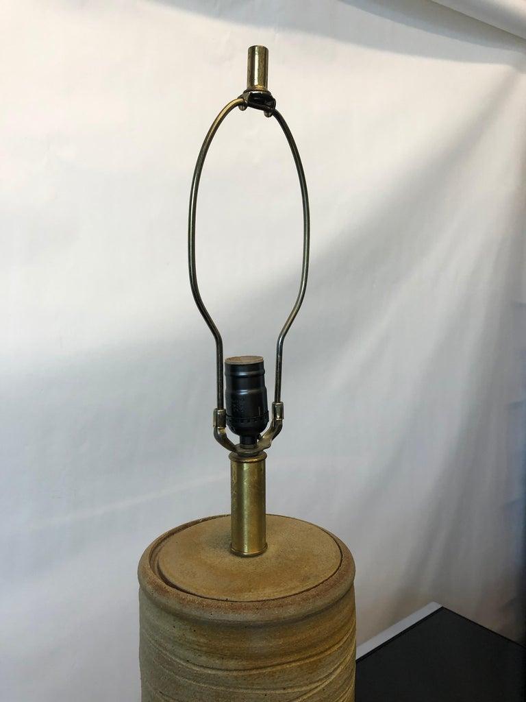 Vintage 1960s Ceramic Lamp by Bob Kinzie for Affiliated Craftsmen For Sale 3