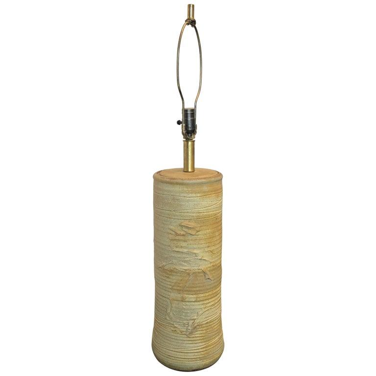 Vintage 1960s Ceramic Lamp by Bob Kinzie for Affiliated Craftsmen For Sale