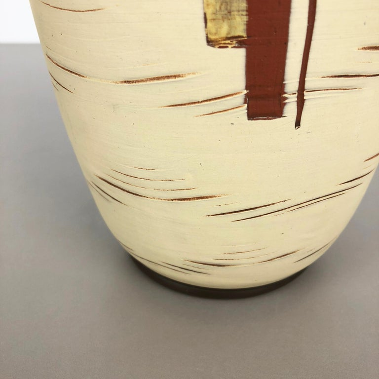 Vintage 1960s Ceramic Pottery Vase by Sawa Ceramic Franz Schwaderlapp, Germany In Good Condition For Sale In Kirchlengern, DE