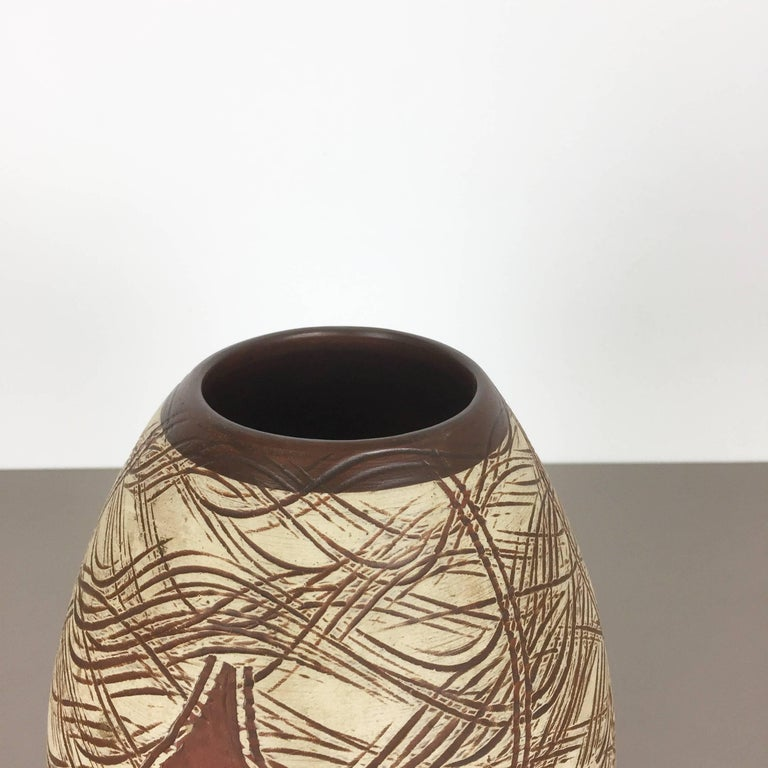 20th Century Vintage 1960s Ceramic Pottery Vase by Sawa Ceramic Franz Schwaderlapp, Germany For Sale
