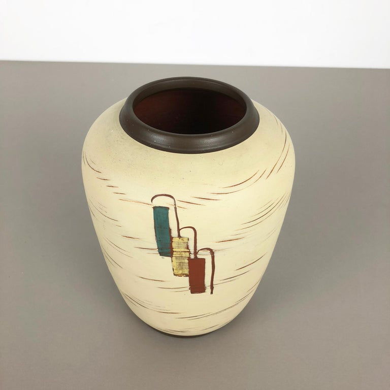 Vintage 1960s Ceramic Pottery Vase by Sawa Ceramic Franz Schwaderlapp, Germany For Sale 1