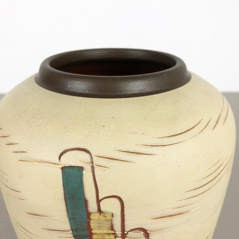 Vintage 1960s Ceramic Pottery Vase by Sawa Ceramic Franz Schwaderlapp, Germany For Sale 2