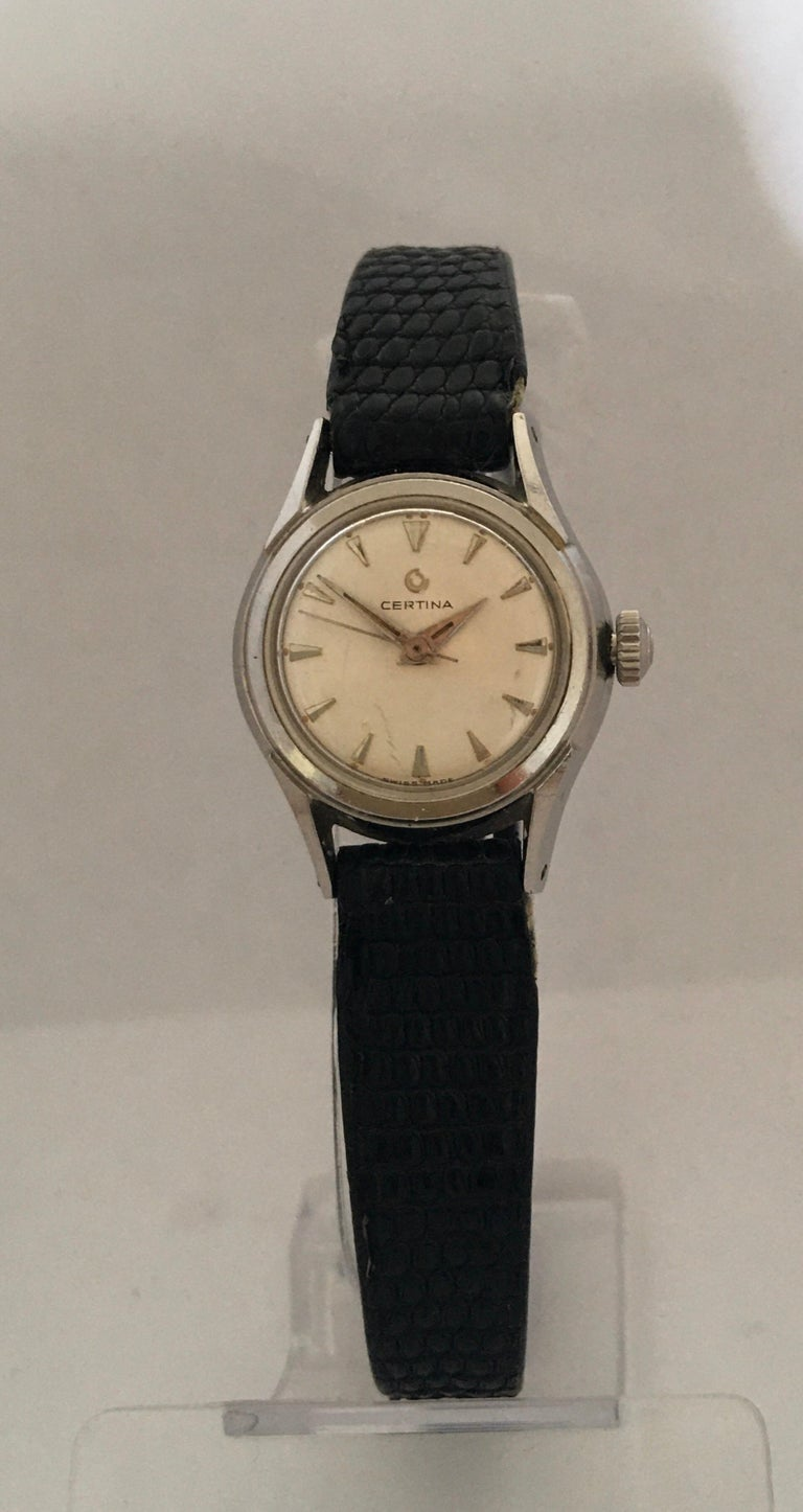 Vintage 1960s Certina Ladies Mechanical Watch For Sale 6