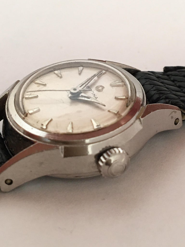 Vintage 1960s Certina Ladies Mechanical Watch For Sale 1