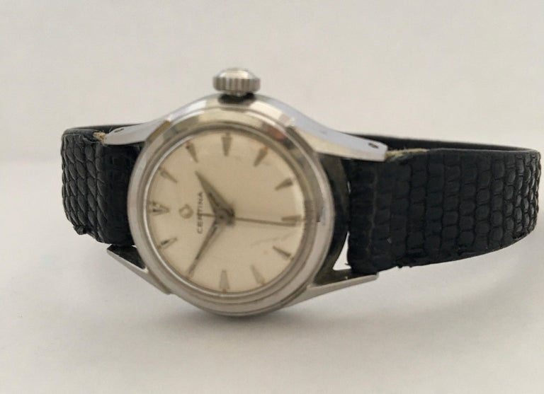 Vintage 1960s Certina Ladies Mechanical Watch For Sale 4
