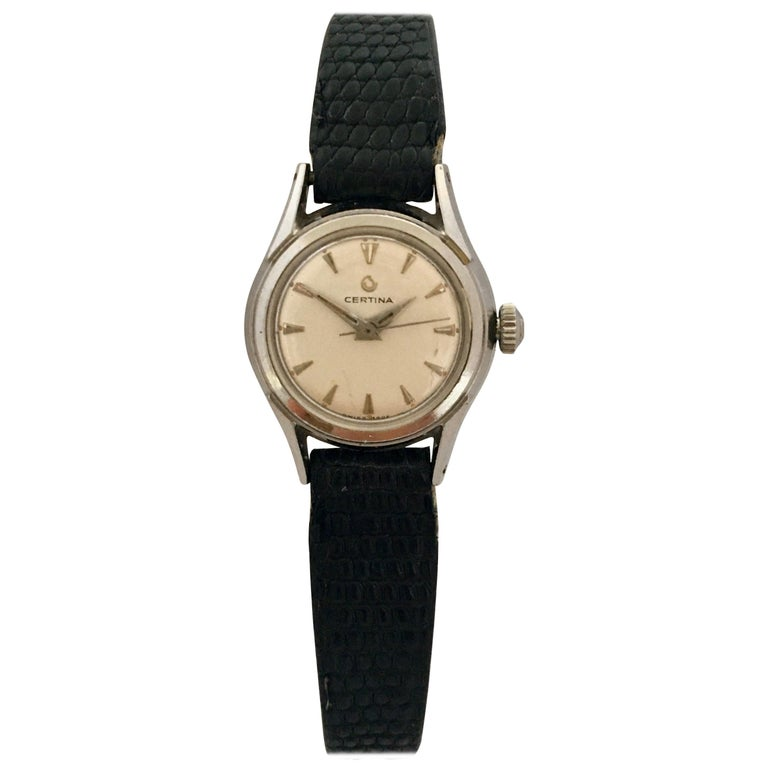 Vintage 1960s Certina Ladies Mechanical Watch For Sale