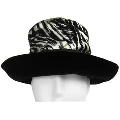 Vintage 1960s Chesterfield Original Black White Hat