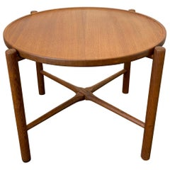 Vintage 1960s Danish Modern Teak & Oak Table by Hans J. Wegner for Andreas Tuck