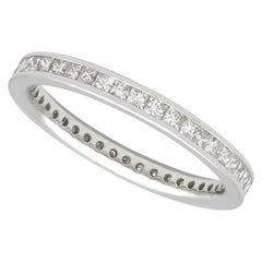Vintage 1960s Diamond and Platinum Full Eternity Ring