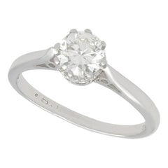 Vintage 1960s Diamond and White Gold Solitaire Engagement Ring