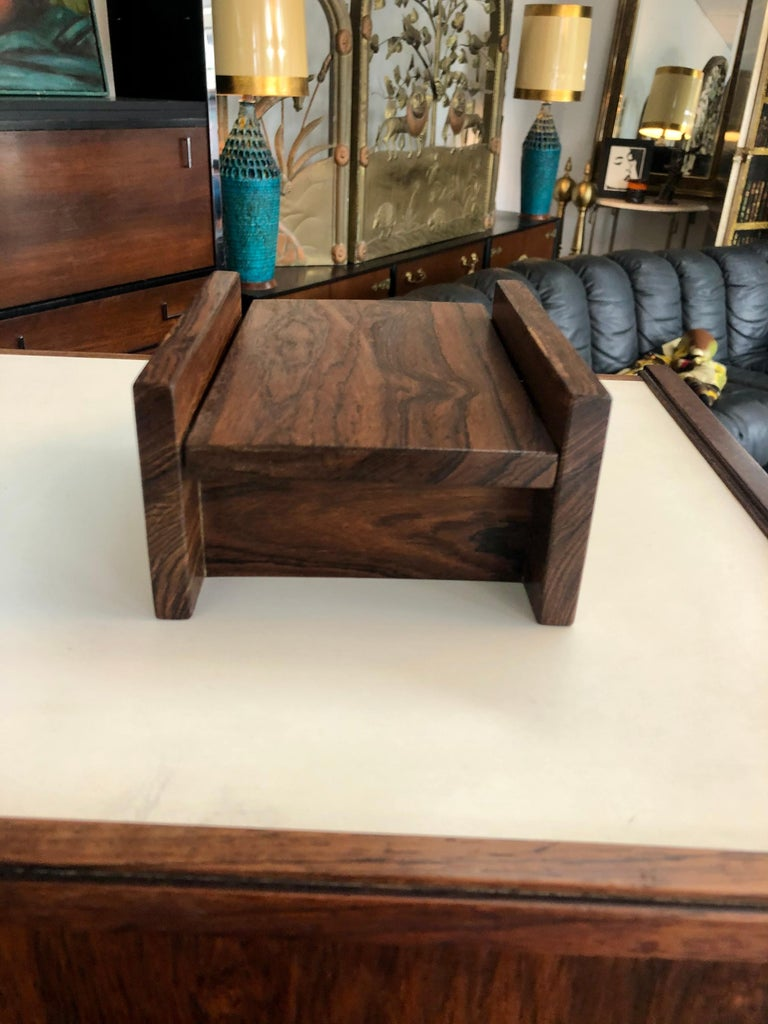 Mid-Century Modern Vintage 1960s Don Shoemaker Cocobolo Cigarette Box For Sale