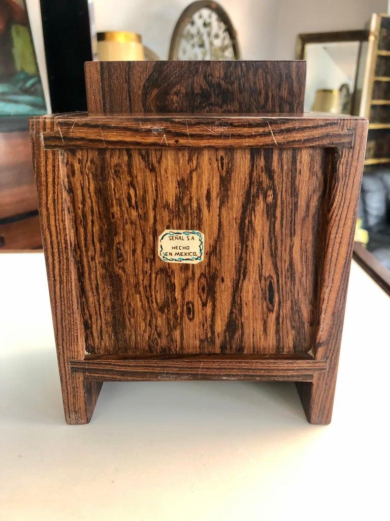 Vintage 1960s Don Shoemaker Cocobolo Cigarette Box In Good Condition For Sale In San Antonio, TX