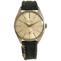 Vintage 1960s Favre Leuba Geneve Stainless Steel Mechanical Men's Watch