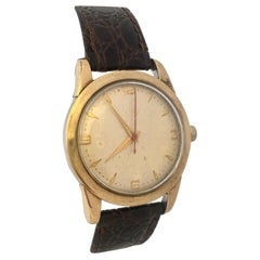 Vintage 1960s Gold Filled Cap and Stainless Steel Back Mechanical Watch