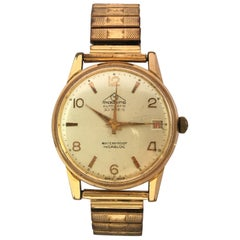 Vintage 1960s Gold-Plated and Stainless Steel 30 Rubis Swiss Automatic Watch