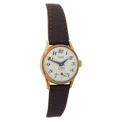 Vintage 1960s Gold-Plated and Stainless Steel Back Rone Ladies Mechanical Watch