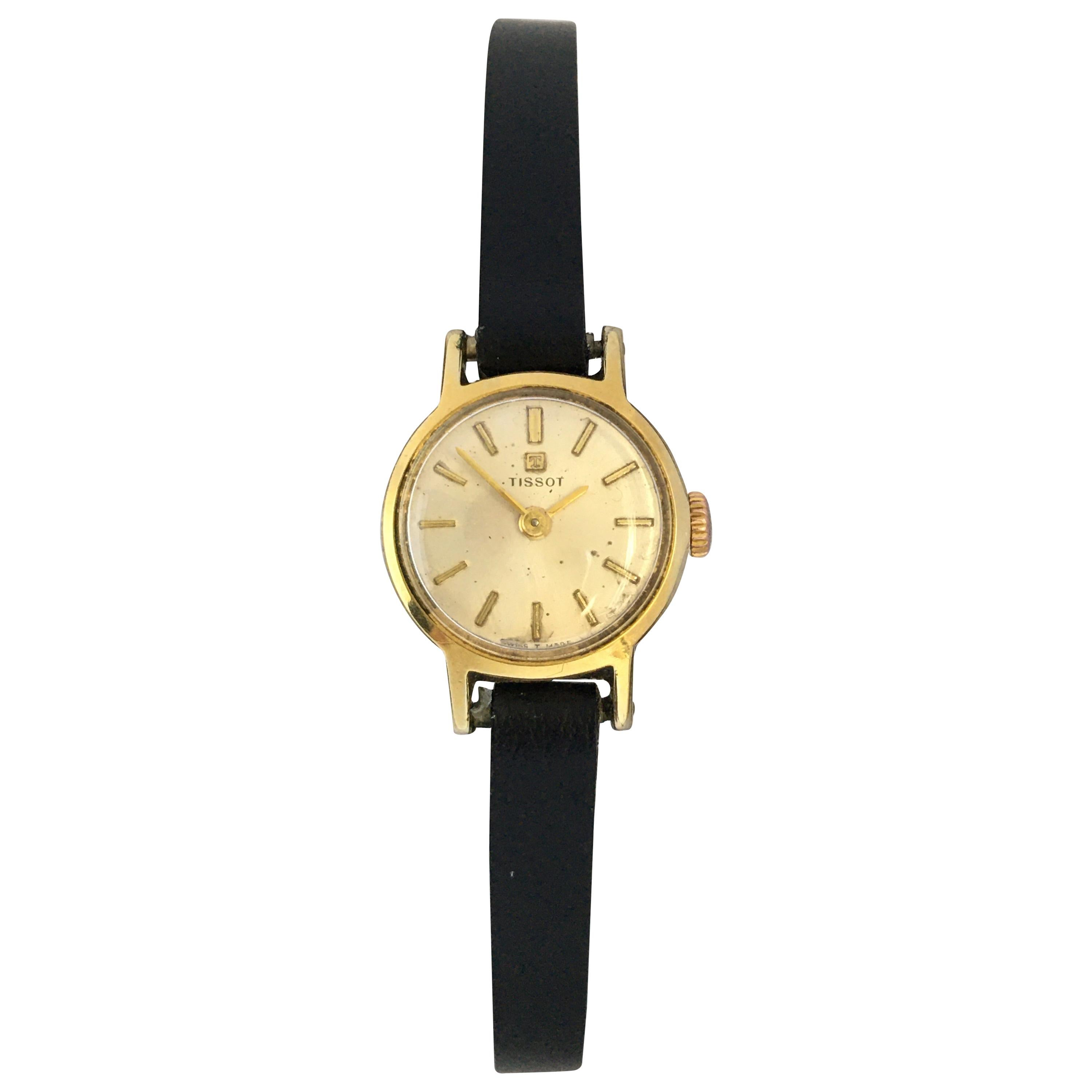 Vintage 1960s Gold-Plated and Stainless Steel TISSOT Ladies Mechanical Watch